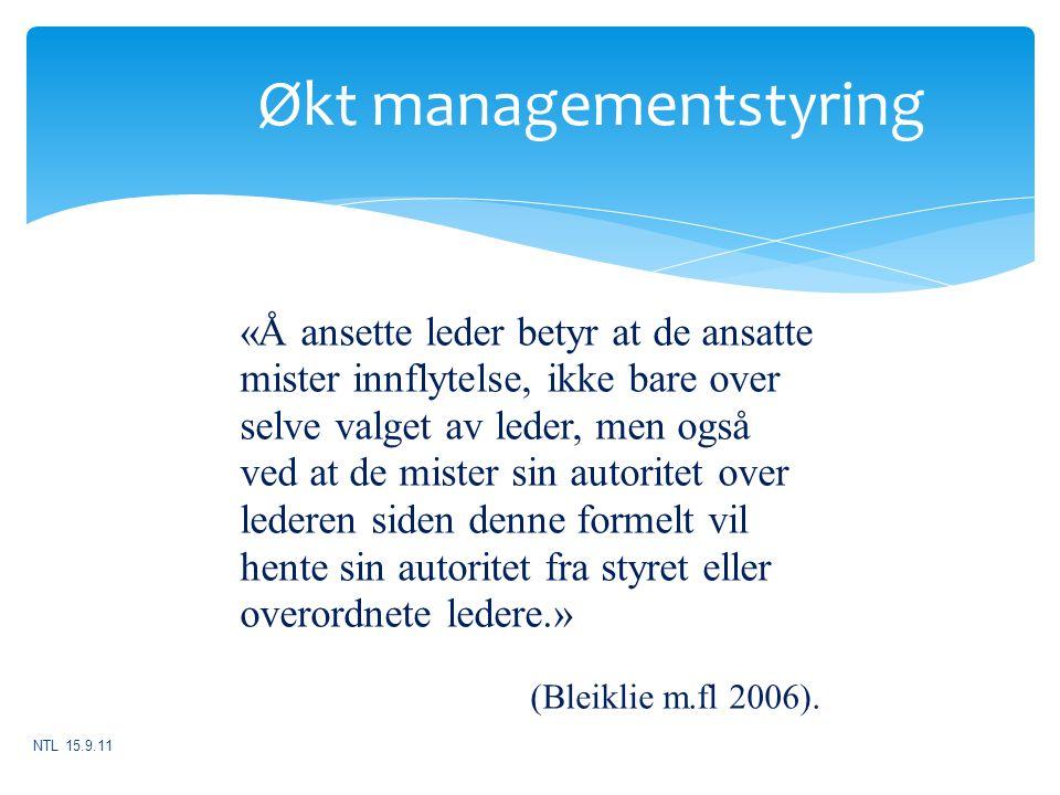 Økt managementstyring