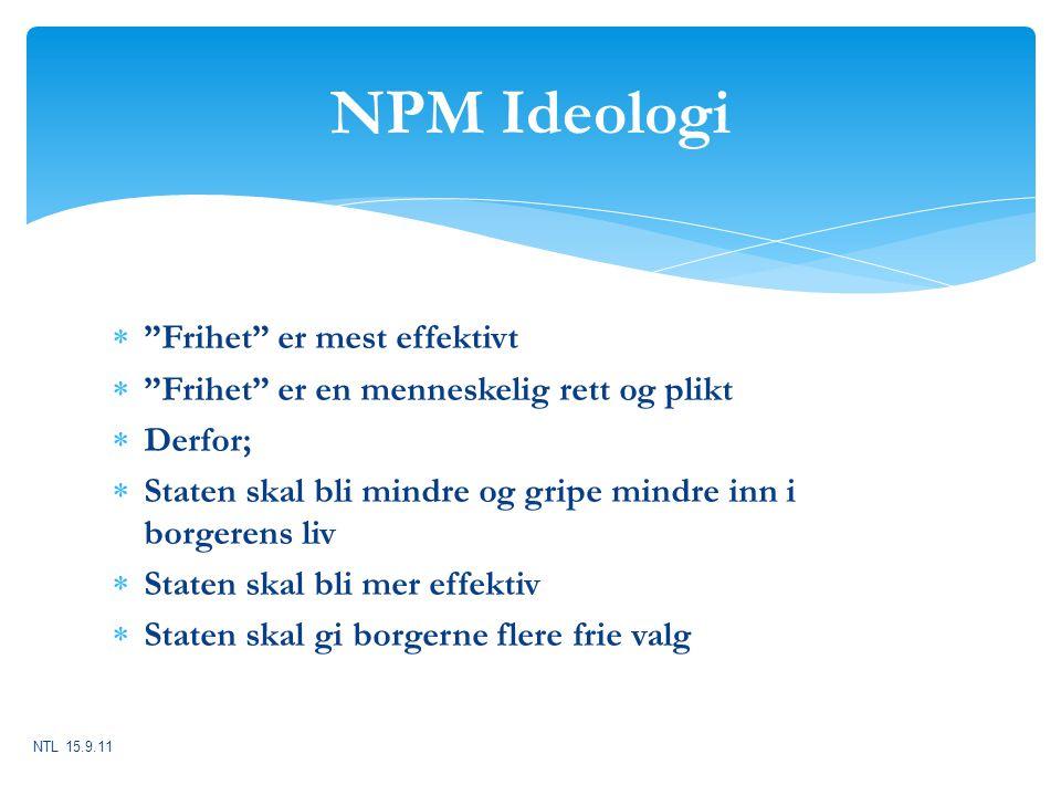 NPM Ideologi Frihet er mest effektivt