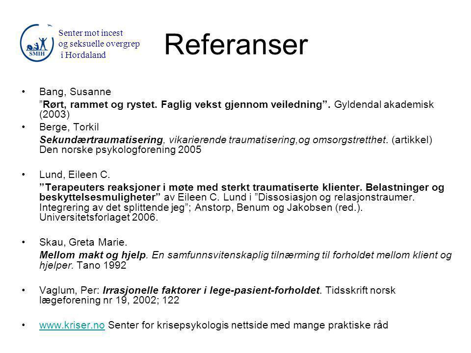Referanser Bang, Susanne