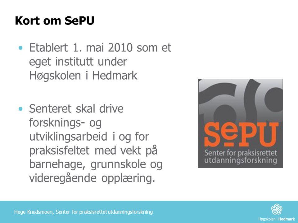 Etablert 1. mai 2010 som et eget institutt under Høgskolen i Hedmark