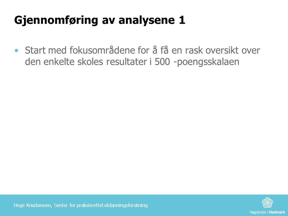 Gjennomføring av analysene 1