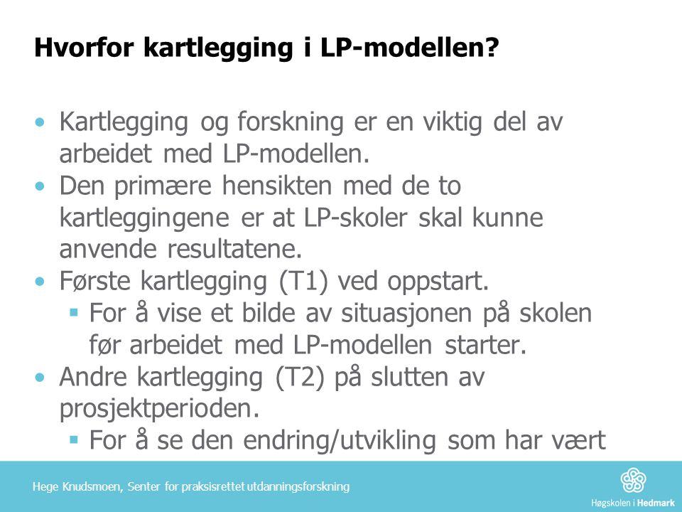 Hvorfor kartlegging i LP-modellen