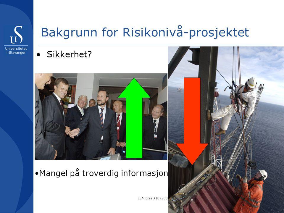 Bakgrunn for Risikonivå-prosjektet