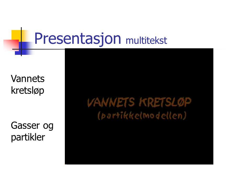 Presentasjon multitekst