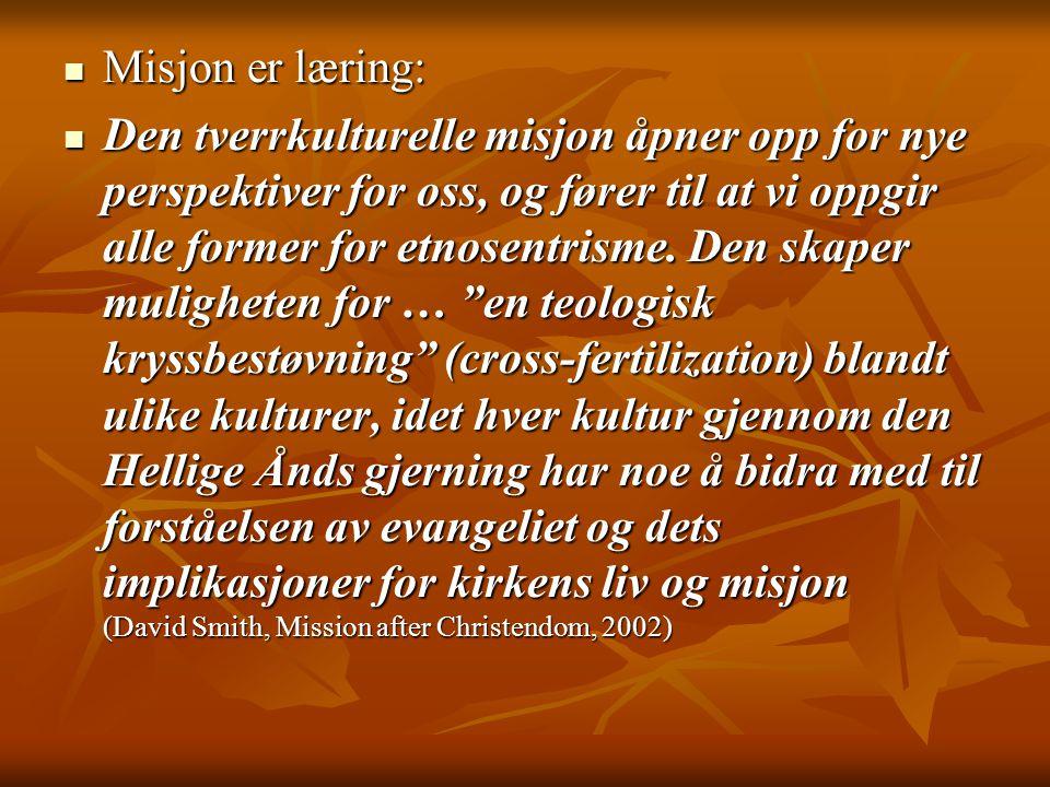 Misjon er læring: