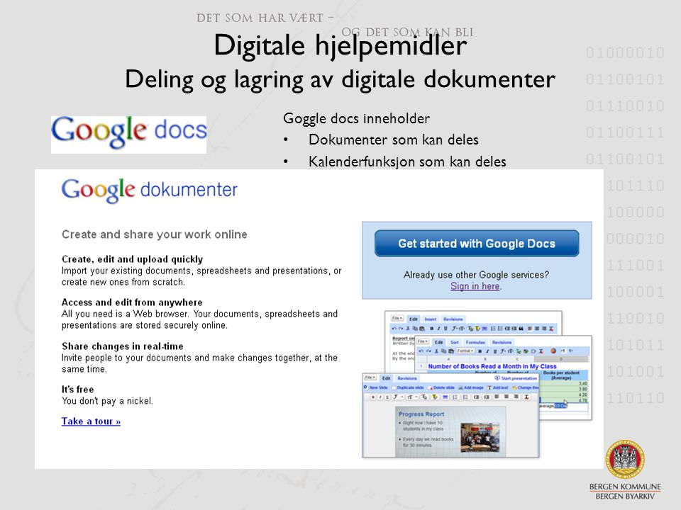 Digitale hjelpemidler Deling og lagring av digitale dokumenter