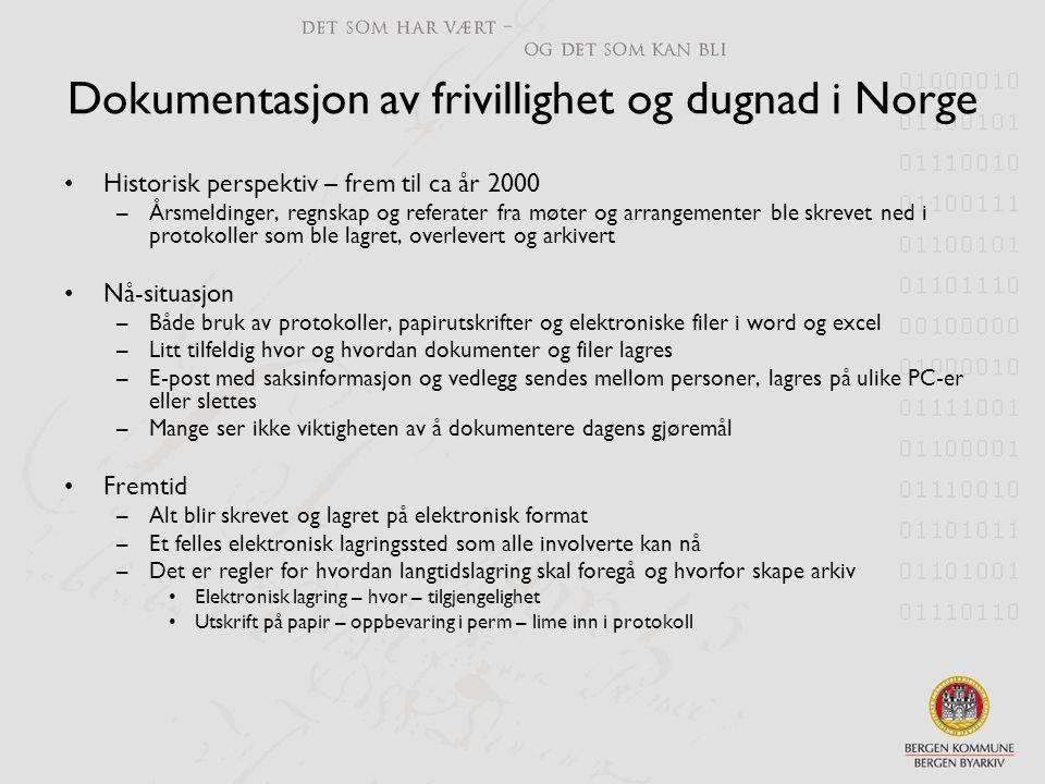 Dokumentasjon av frivillighet og dugnad i Norge