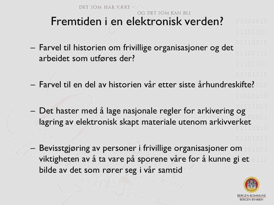 Fremtiden i en elektronisk verden