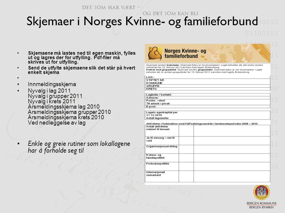 Skjemaer i Norges Kvinne- og familieforbund