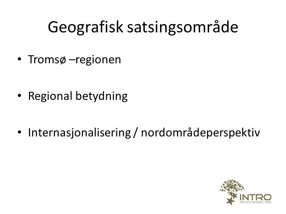 Geografisk satsingsområde