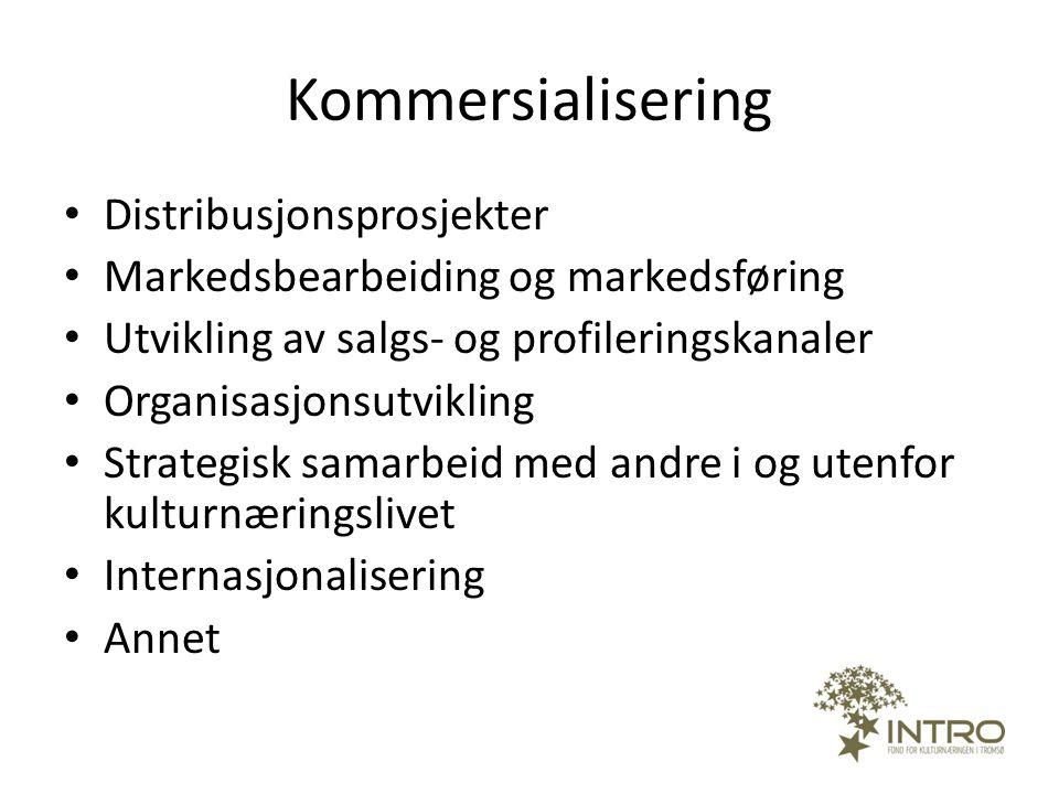 Kommersialisering Distribusjonsprosjekter