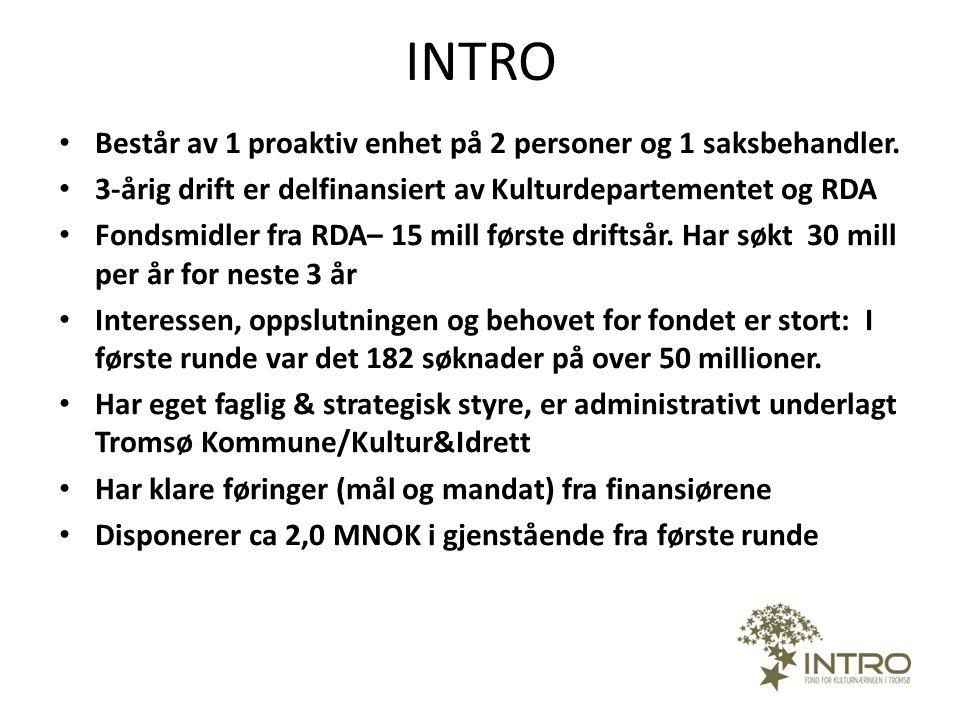 INTRO Består av 1 proaktiv enhet på 2 personer og 1 saksbehandler.