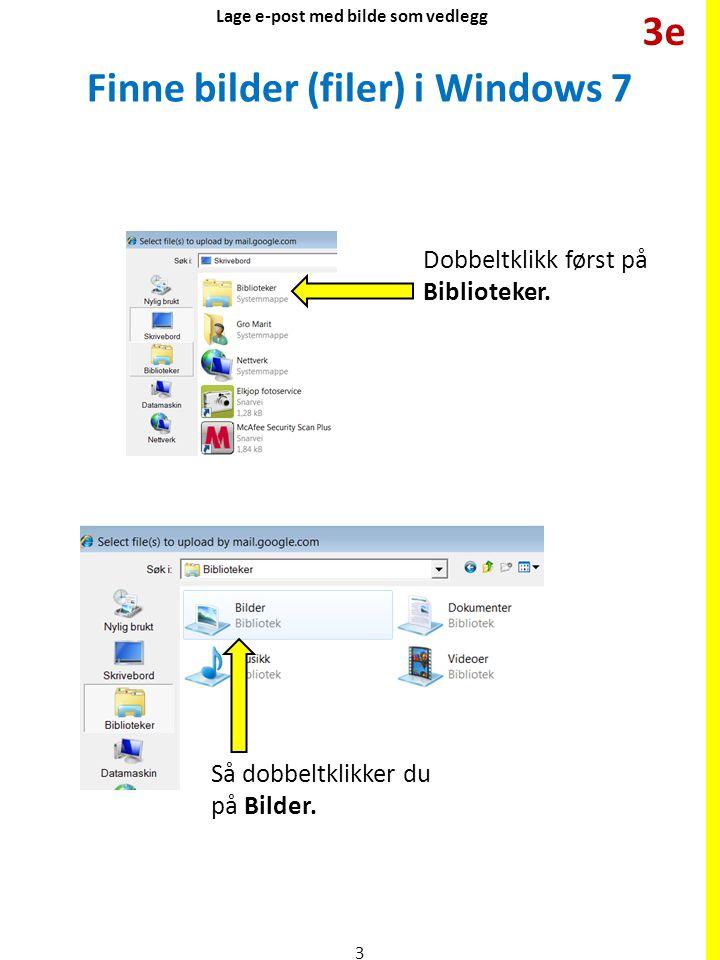 Finne bilder (filer) i Windows 7