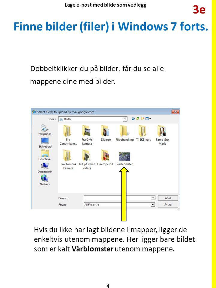 Finne bilder (filer) i Windows 7 forts.