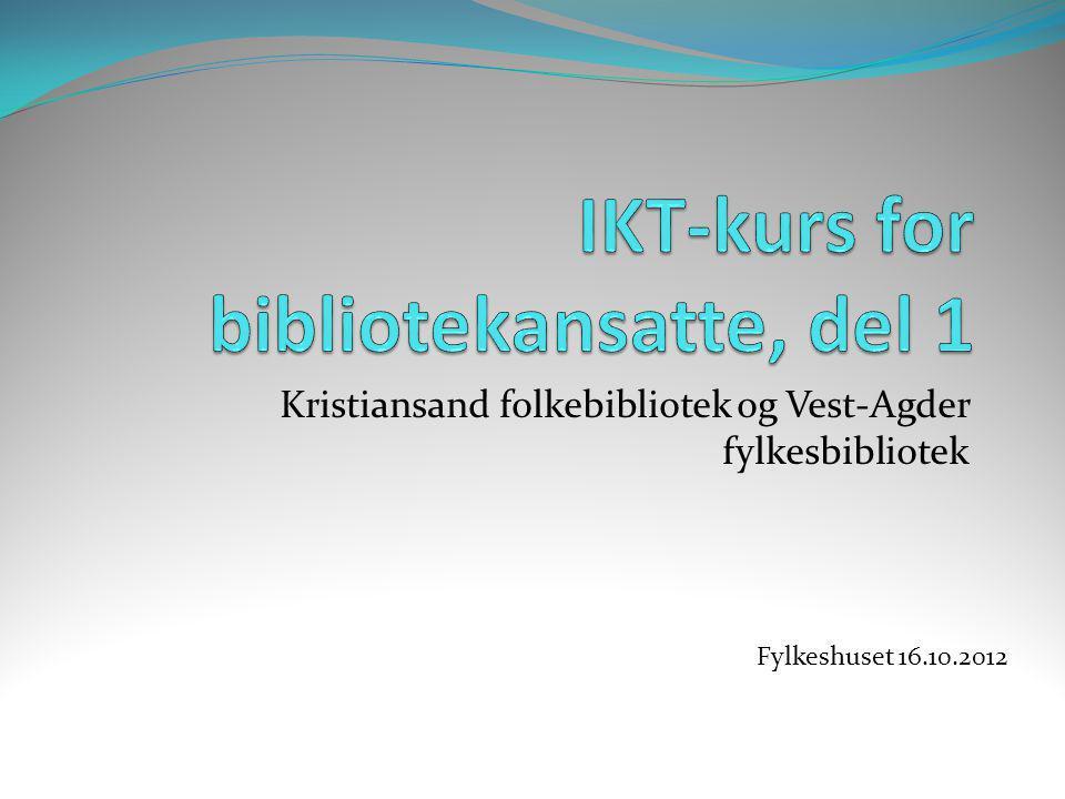 IKT-kurs for bibliotekansatte, del 1