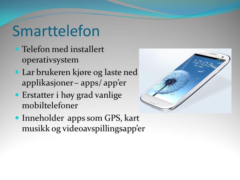 Smarttelefon Telefon med installert operativsystem