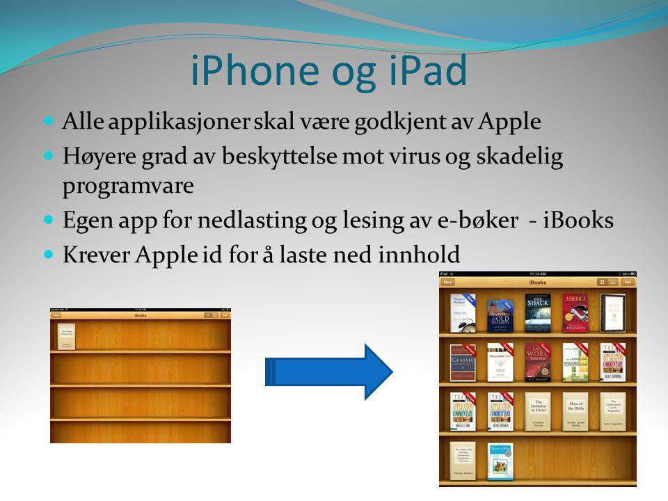 iPhone og iPad Alle applikasjoner skal være godkjent av Apple