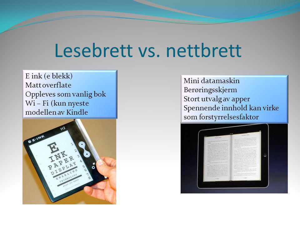 Lesebrett vs. nettbrett