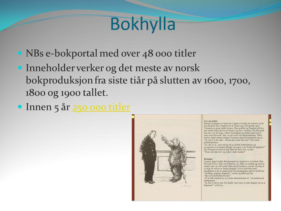 Bokhylla NBs e-bokportal med over 48 000 titler