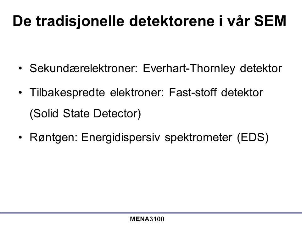 De tradisjonelle detektorene i vår SEM