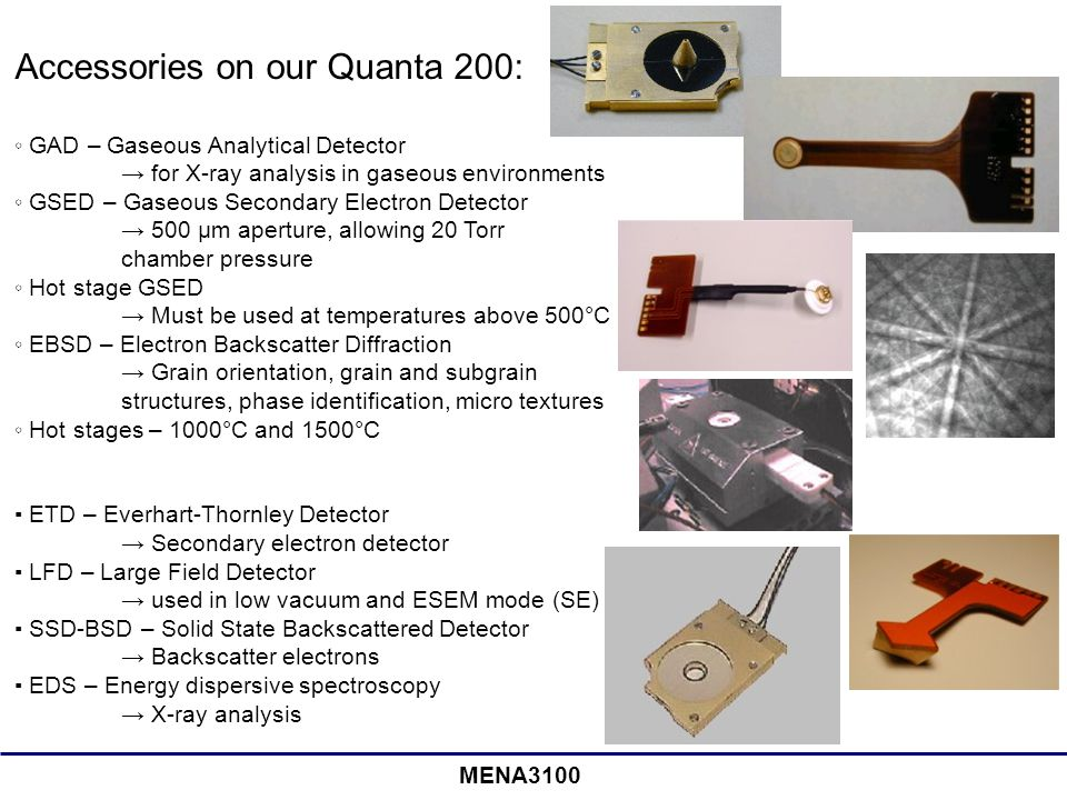 Accessories on our Quanta 200: