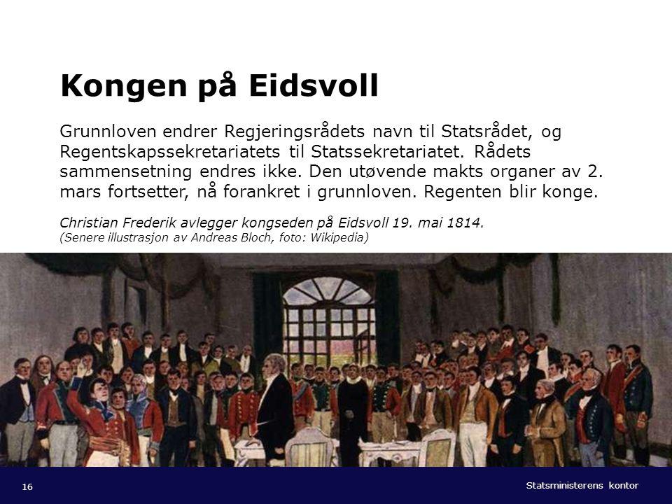 Kongen på Eidsvoll