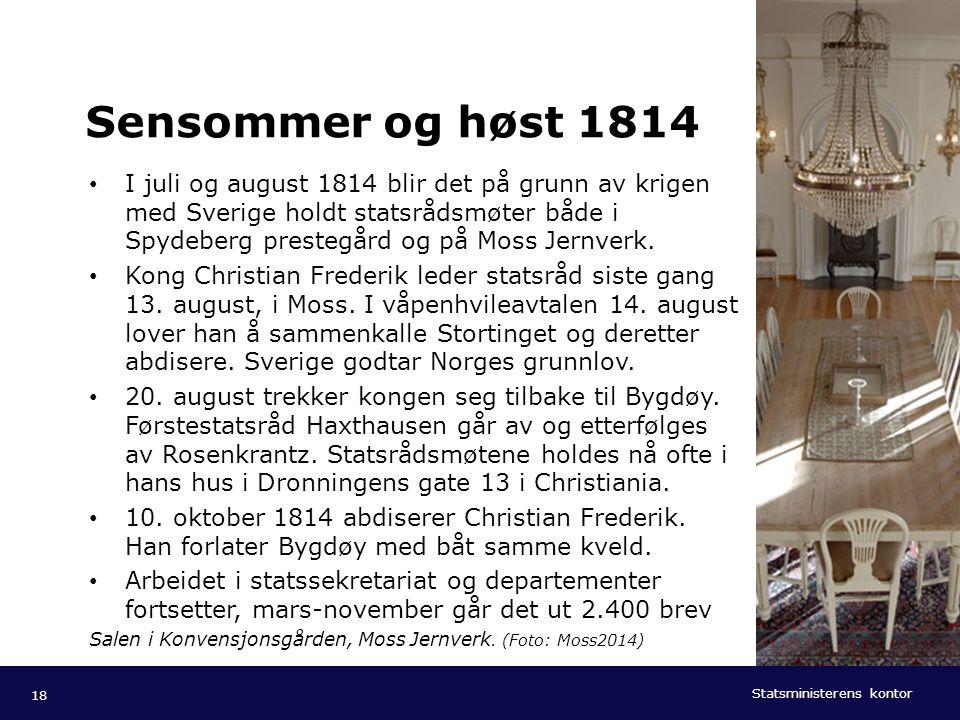 Sensommer og høst 1814