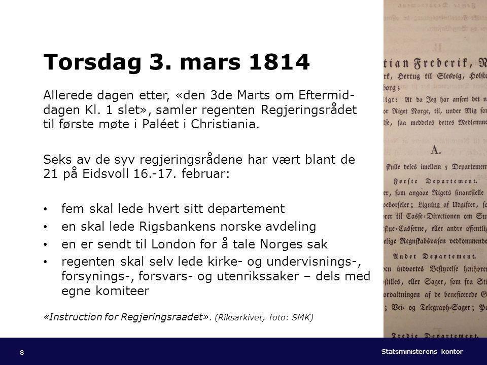 Torsdag 3. mars 1814