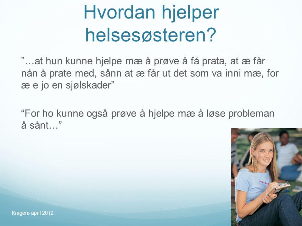 Hvordan hjelper helsesøsteren