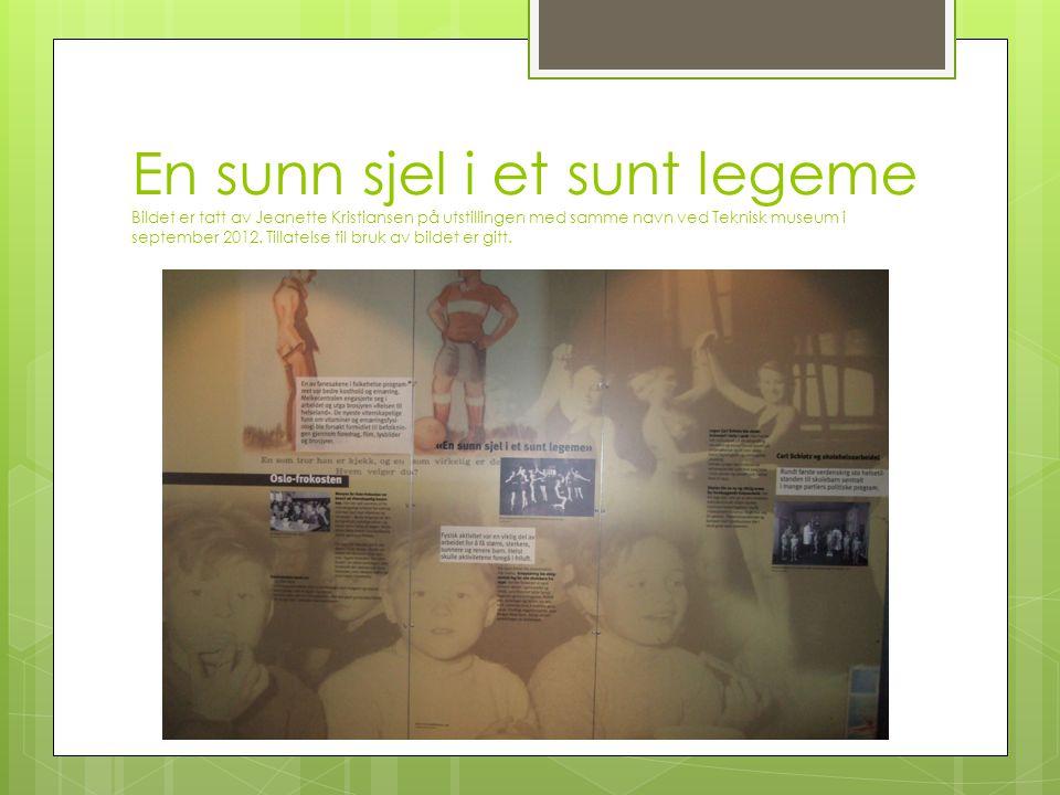 En sunn sjel i et sunt legeme Bildet er tatt av Jeanette Kristiansen på utstillingen med samme navn ved Teknisk museum i september 2012.