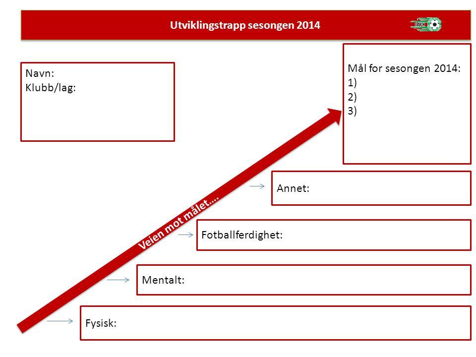Utviklingstrapp sesongen 2014