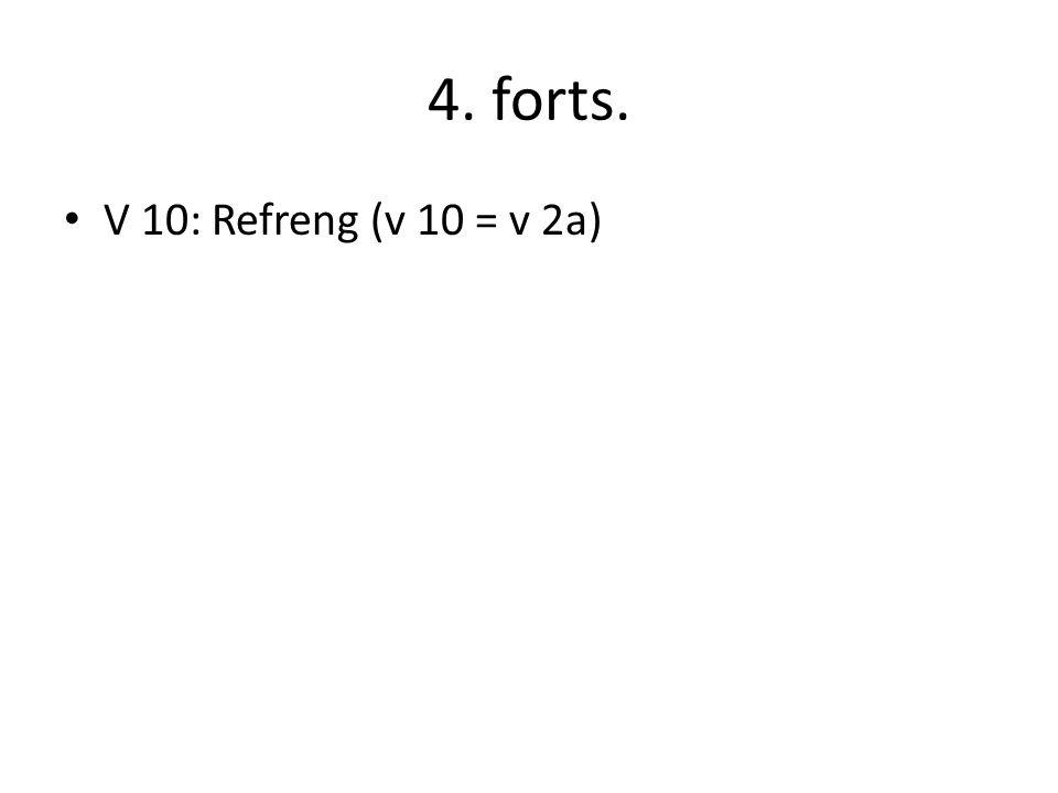 4. forts. V 10: Refreng (v 10 = v 2a)