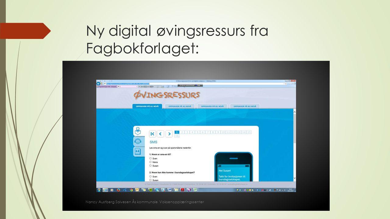 Ny digital øvingsressurs fra Fagbokforlaget: