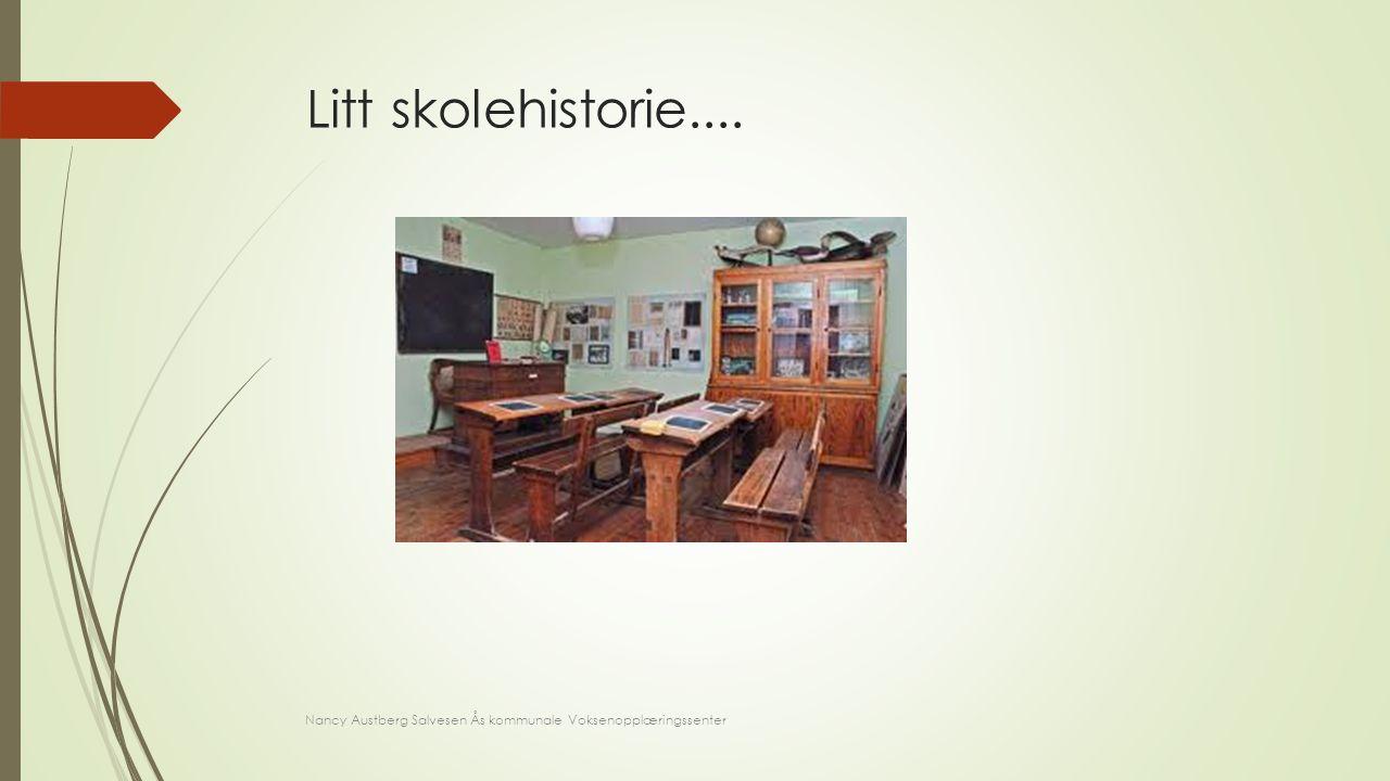 Litt skolehistorie.... Bruk av data i skolen har ikke så veldig lang historie – ta en titt på dette: vi går tilbake til 1986: