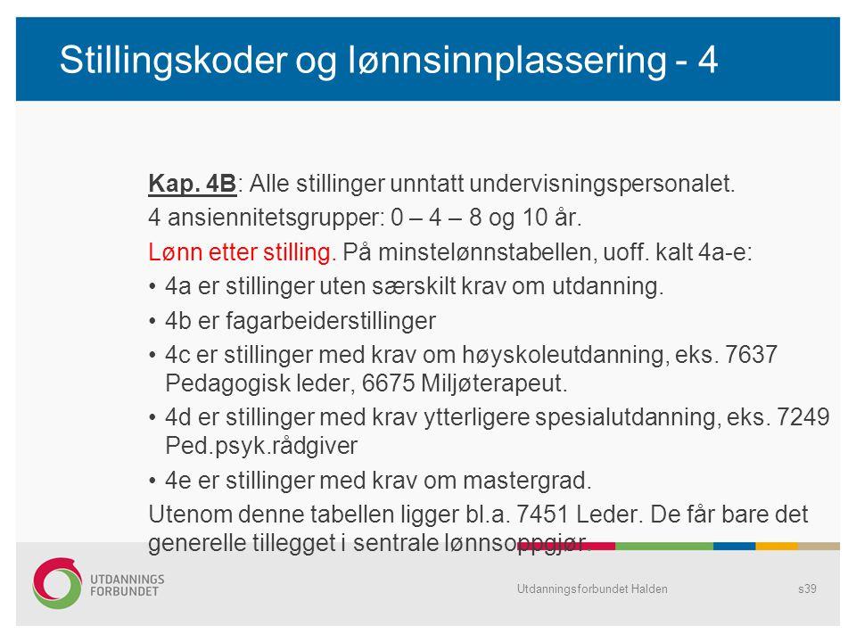 Stillingskoder og lønnsinnplassering - 4