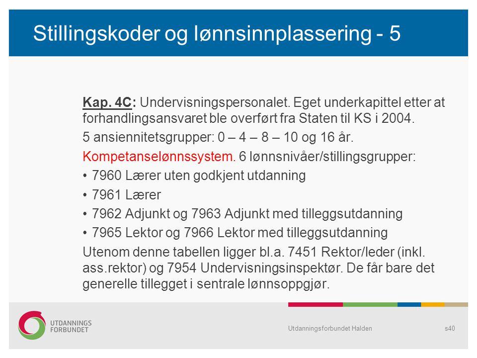 Stillingskoder og lønnsinnplassering - 5