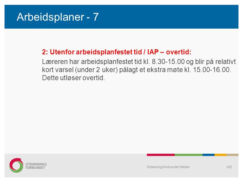 Arbeidsplaner - 7