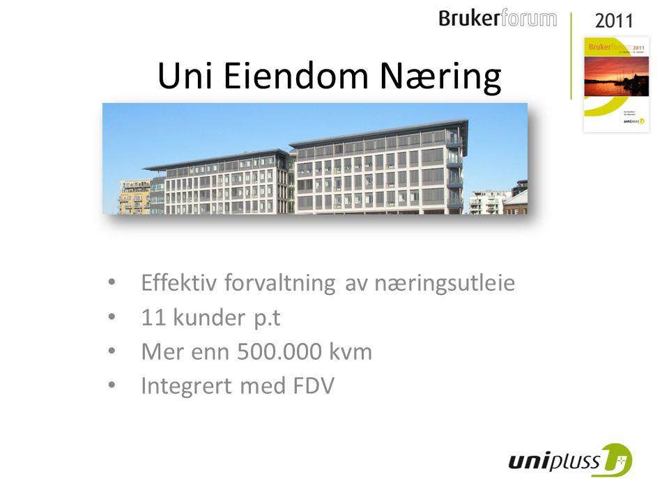Uni Eiendom Næring Effektiv forvaltning av næringsutleie 11 kunder p.t