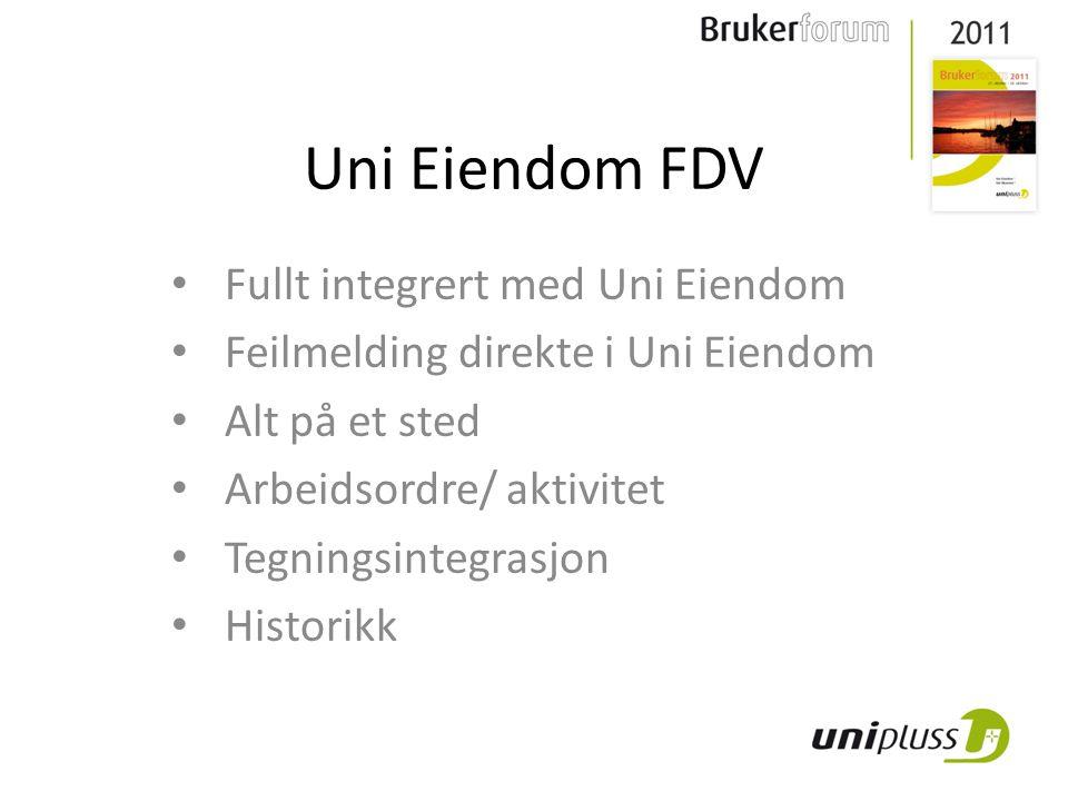 Uni Eiendom FDV Fullt integrert med Uni Eiendom