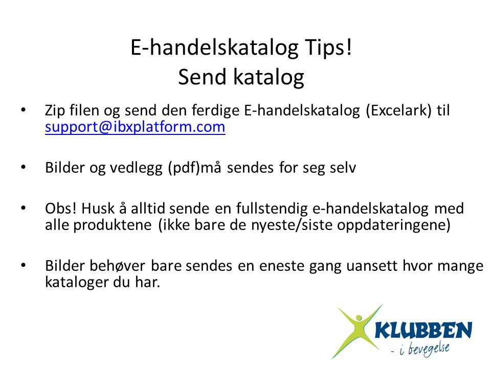 E-handelskatalog Tips!
