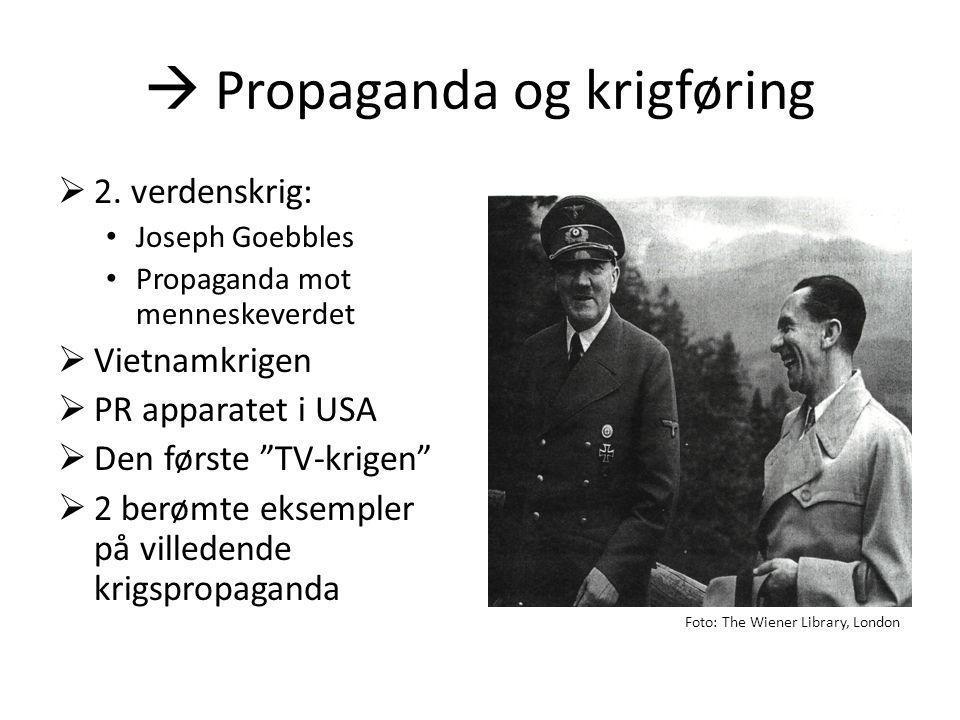  Propaganda og krigføring