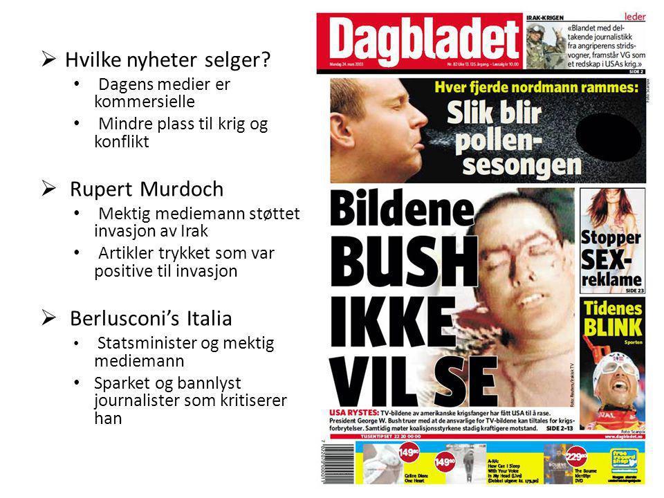 Hvilke nyheter selger Rupert Murdoch Berlusconi's Italia
