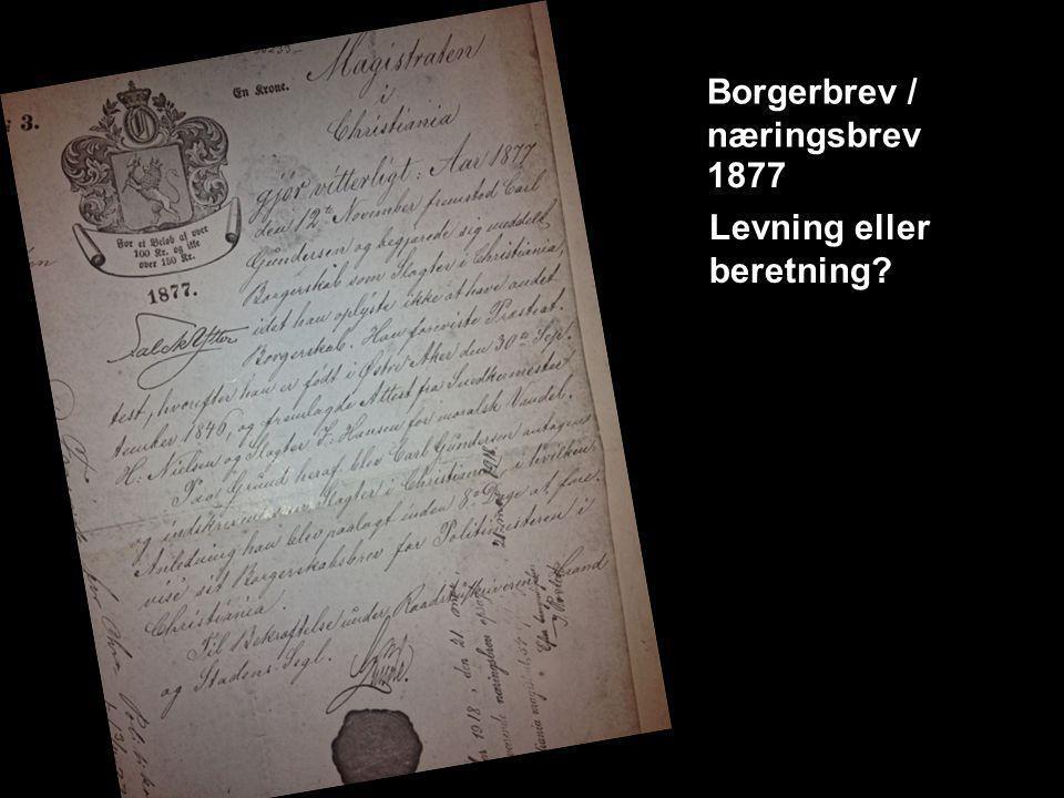 Borgerbrev / næringsbrev