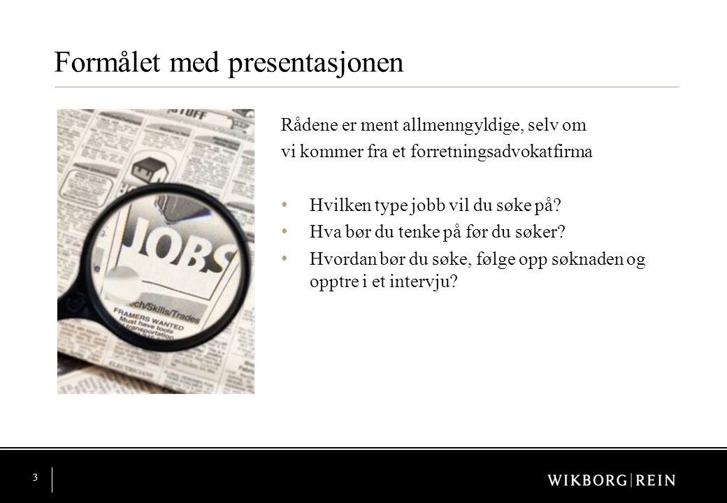 Formålet med presentasjonen