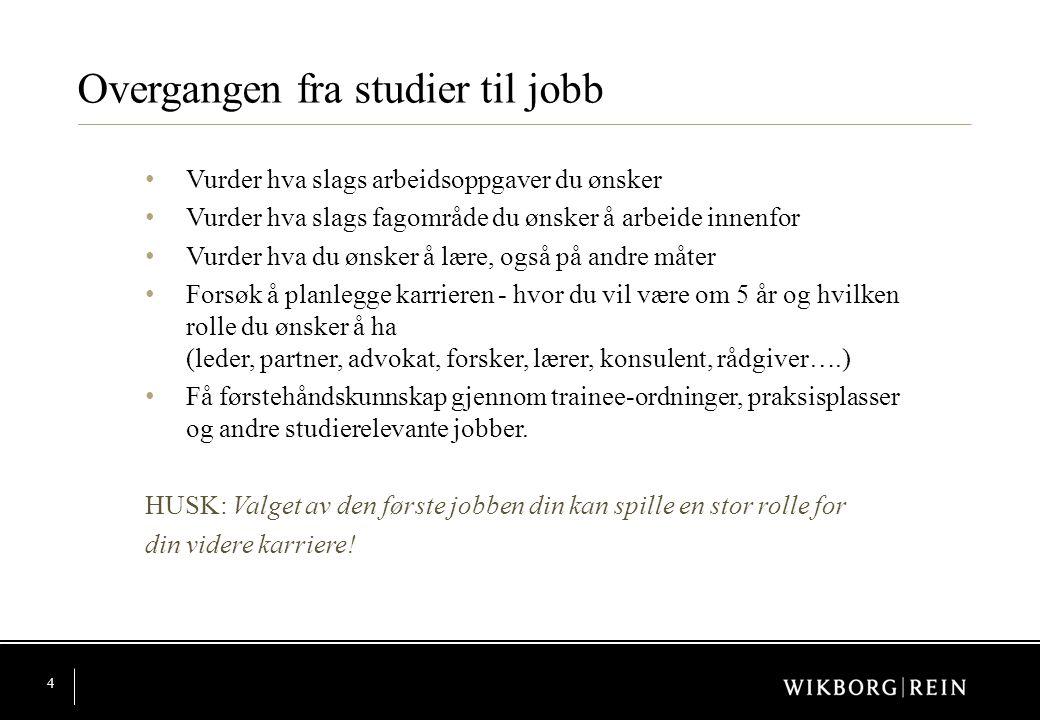 Overgangen fra studier til jobb