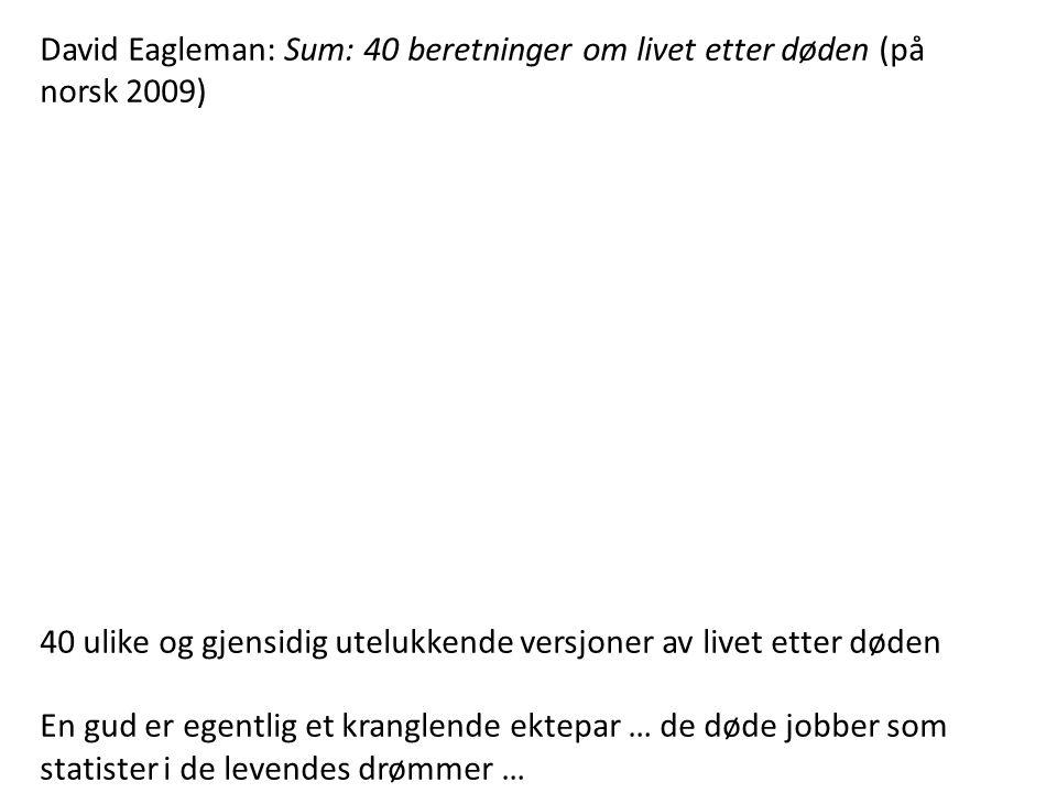 David Eagleman: Sum: 40 beretninger om livet etter døden (på norsk 2009)