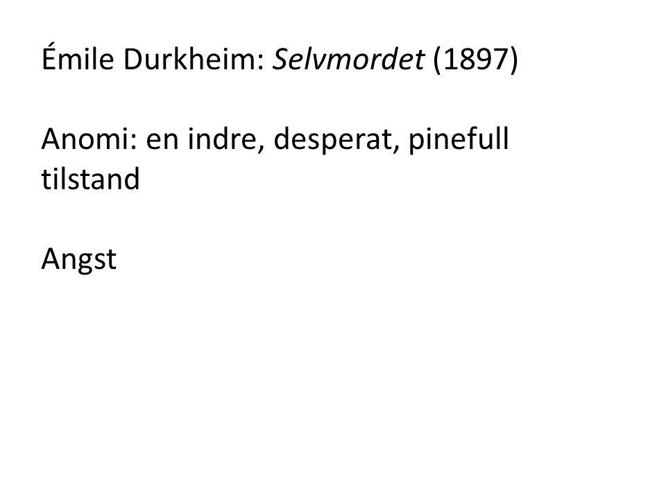Émile Durkheim: Selvmordet (1897)