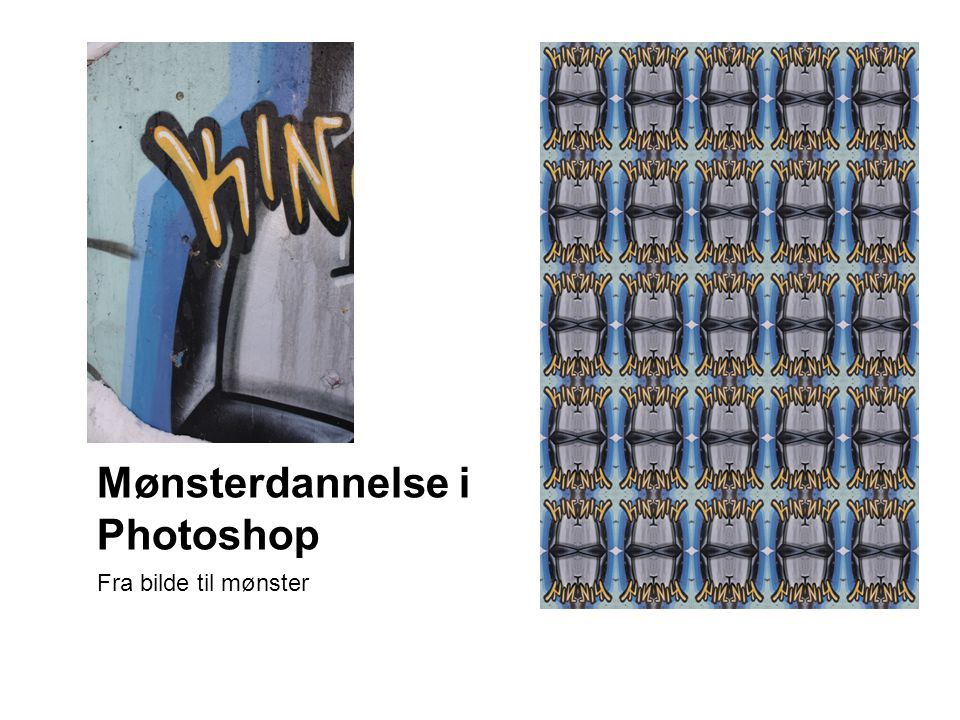 Mønsterdannelse i Photoshop