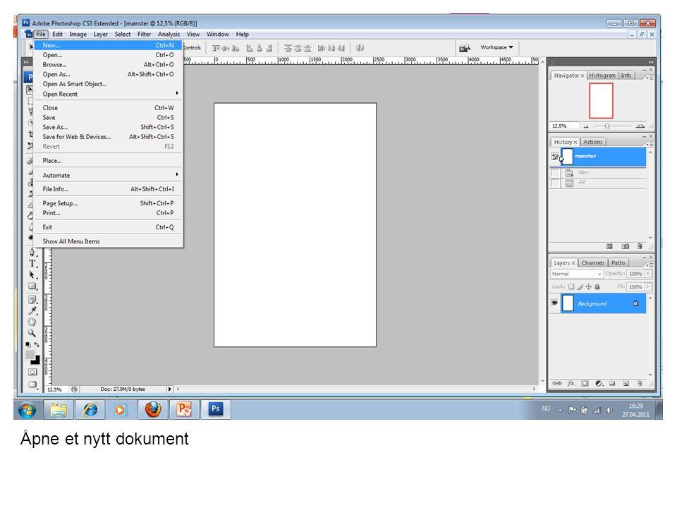 Åpne et nytt dokument