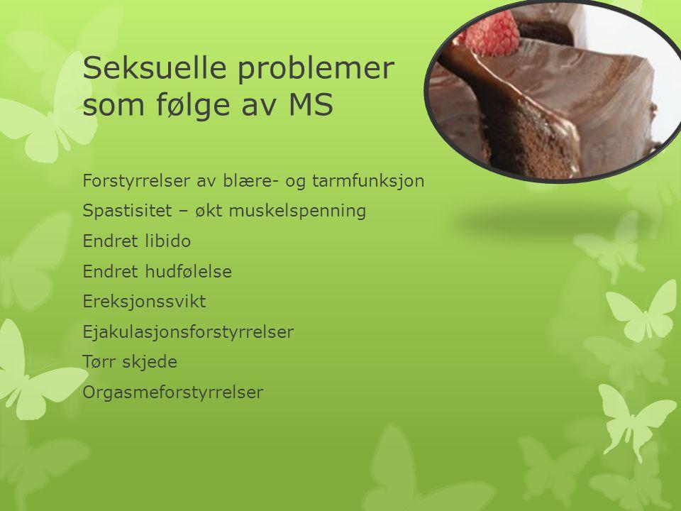 Seksuelle problemer som følge av MS